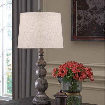 Picture of Mair Antique Black Lamp Pair