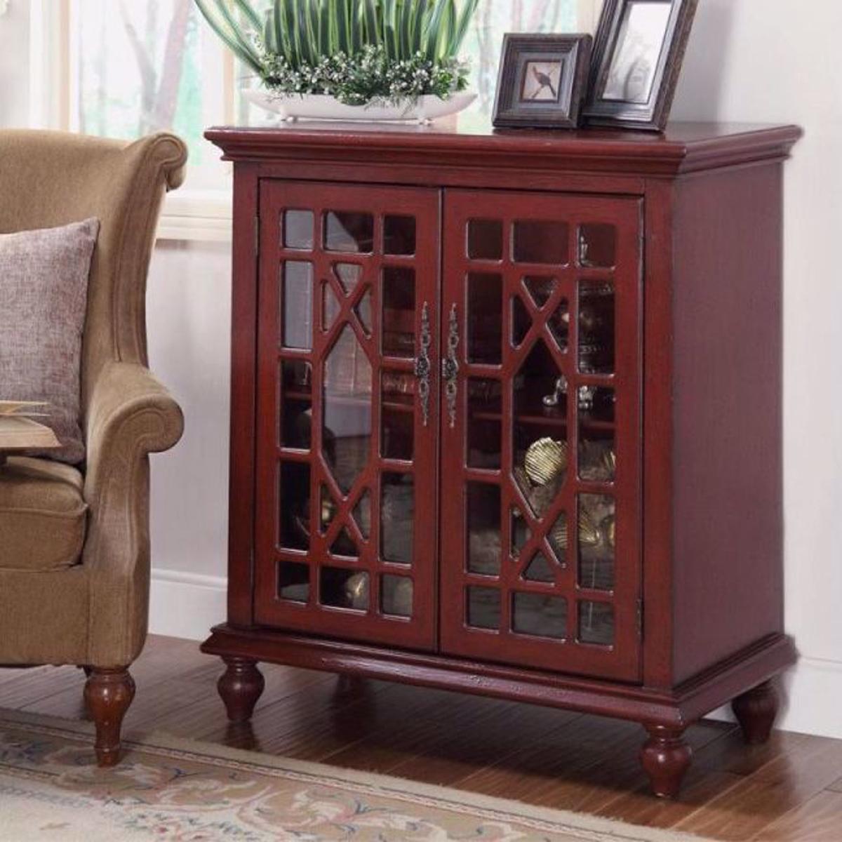 Picture of Esnon Texture Red 2 Door Cabinet