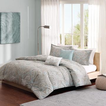 Picture of Ronan 5 Piece Cotton Queen Comforter Set